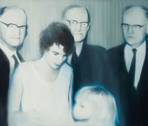 Ingrid and the Elders. 2009. Oil on canvas. 600 X 700mm