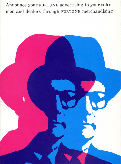 Alan Fletcher, Fortune Magazine promotional blotter