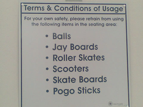 No Pogo Sticks