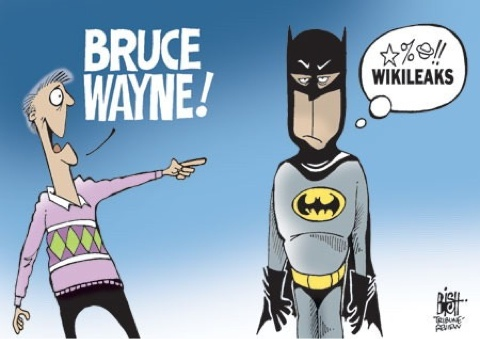Batman vs Wikileaks