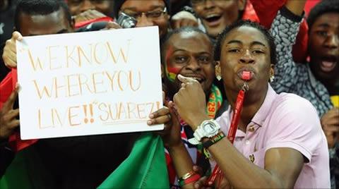 Luis Suarez, Ghana fans