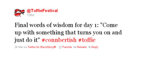 Toffie Conn Bertish Tweet