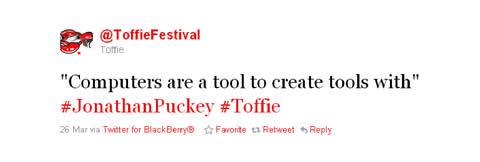 Toffie Jonathan Puckey Tweet