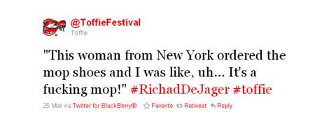 Toffie Richard De Jager Tweet