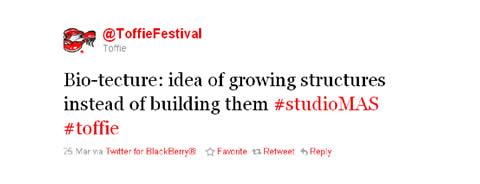 Toffie Studio MAS Tweet