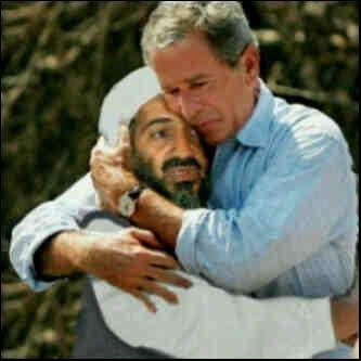 Osama Bin Laden and George Bush