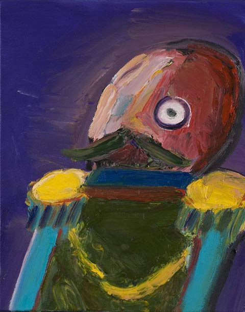 Carla Busuttil, More Like a Toy Than A Man, 2008, oil on canvas, 26 x 20 cm