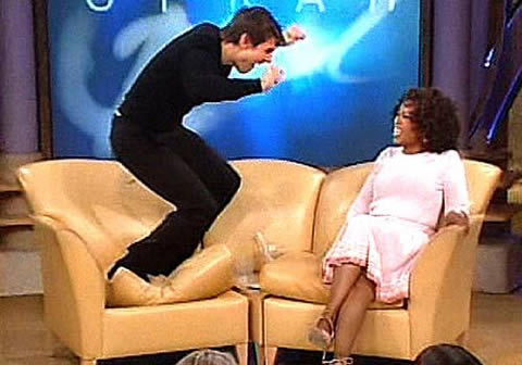 Tom Cruise on the couch