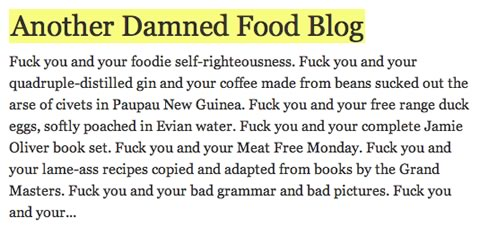 Another Damned Food Blog
