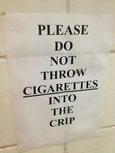 Cigs in the Crip
