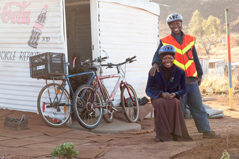 Bicycle Portraits - Molefe and Ntsakani Fanose
