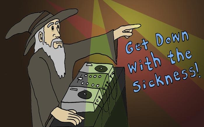 Gandalf DJing